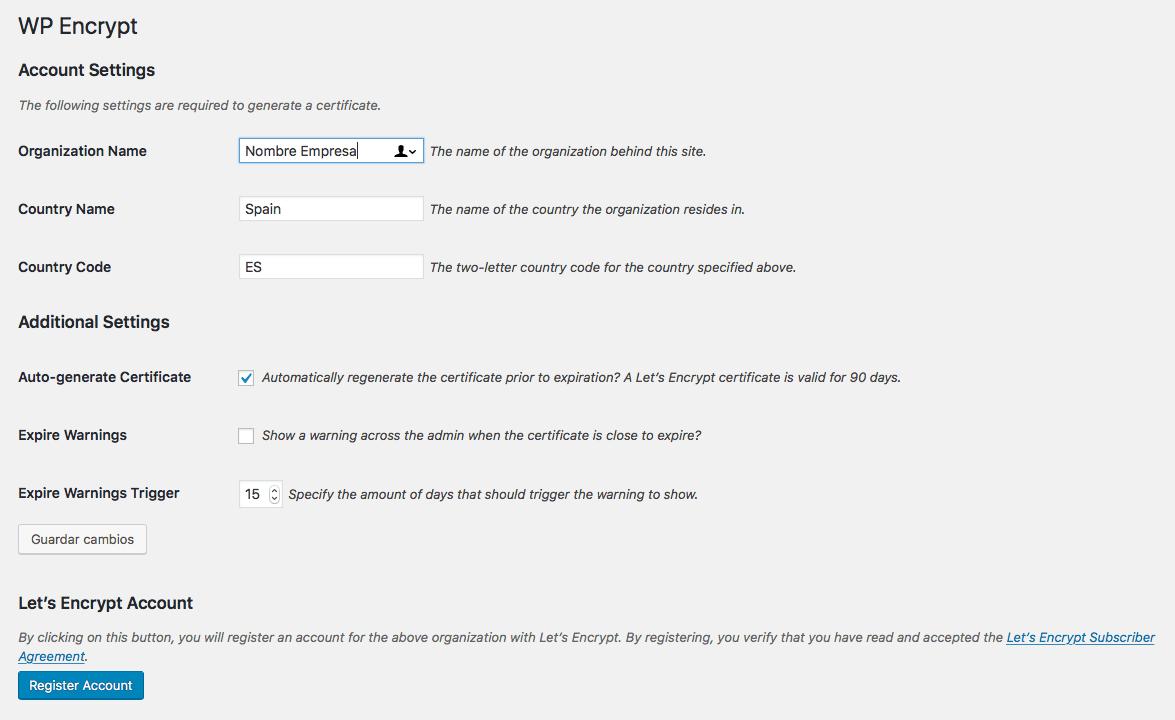 Instalar el certificado SSL en WordPress con WP Encrypt